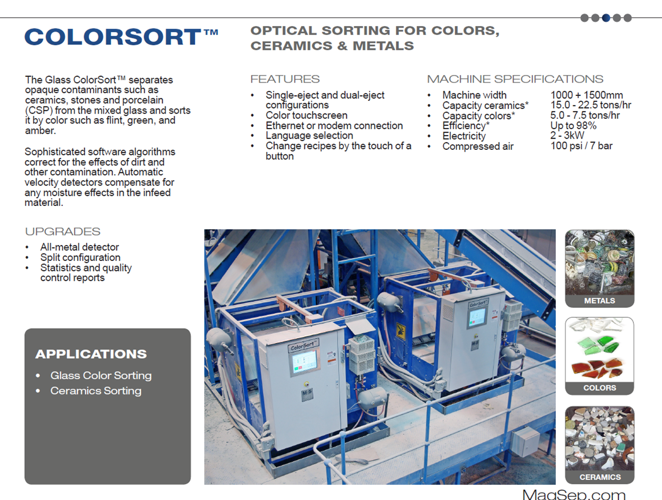 glass sorting equipment
