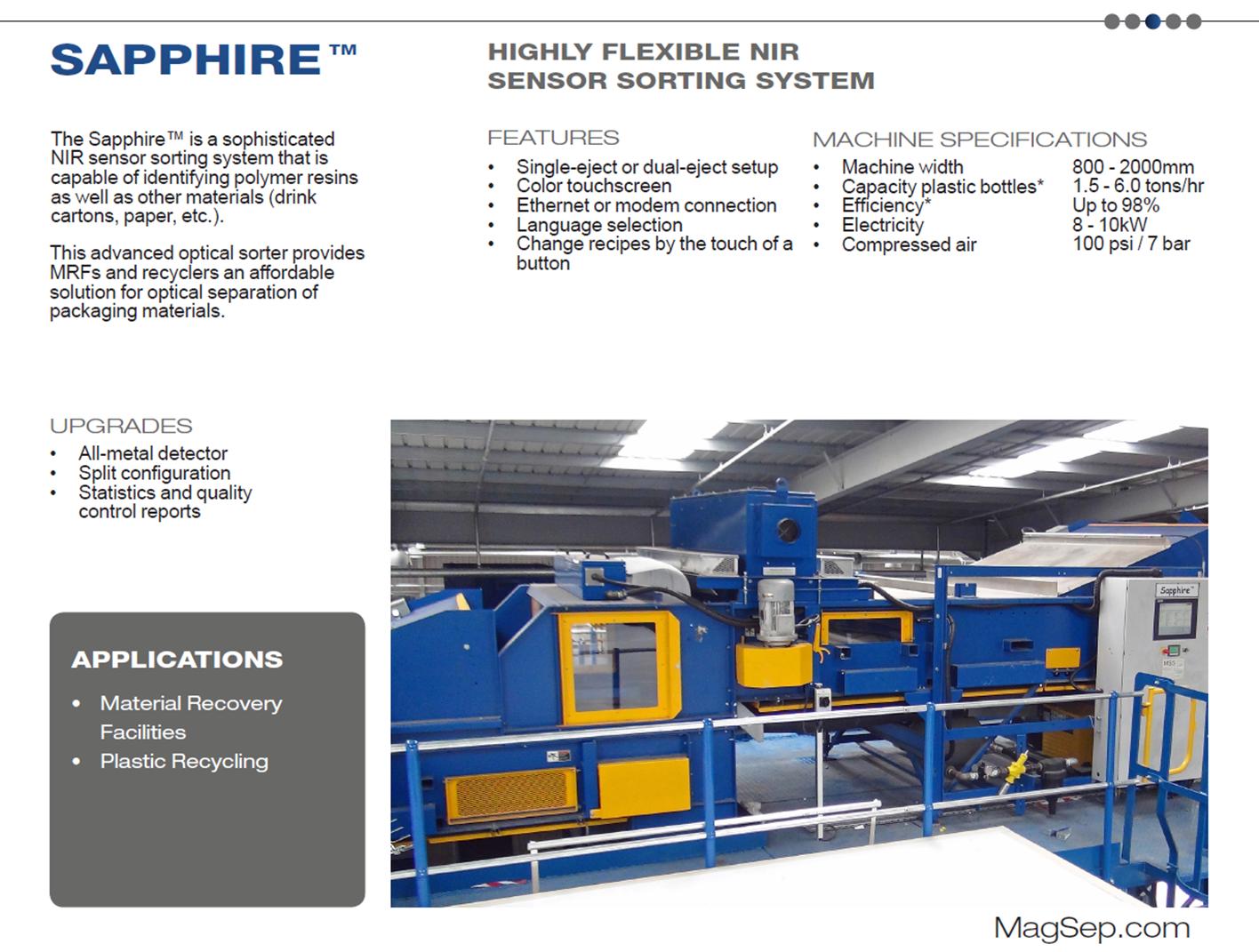 plastic separation equipment